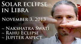 Solar Eclipse in Libra November 3, 2013