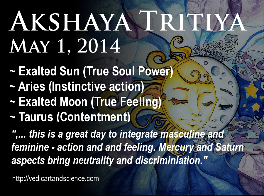 Vedic Astrology – Akshaya Tritiya – May 2014